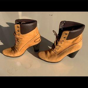 Timberland high heeled boots size 7.5